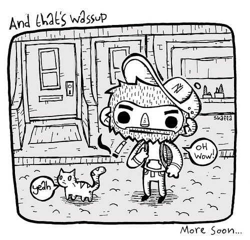 and what up, skaffa work