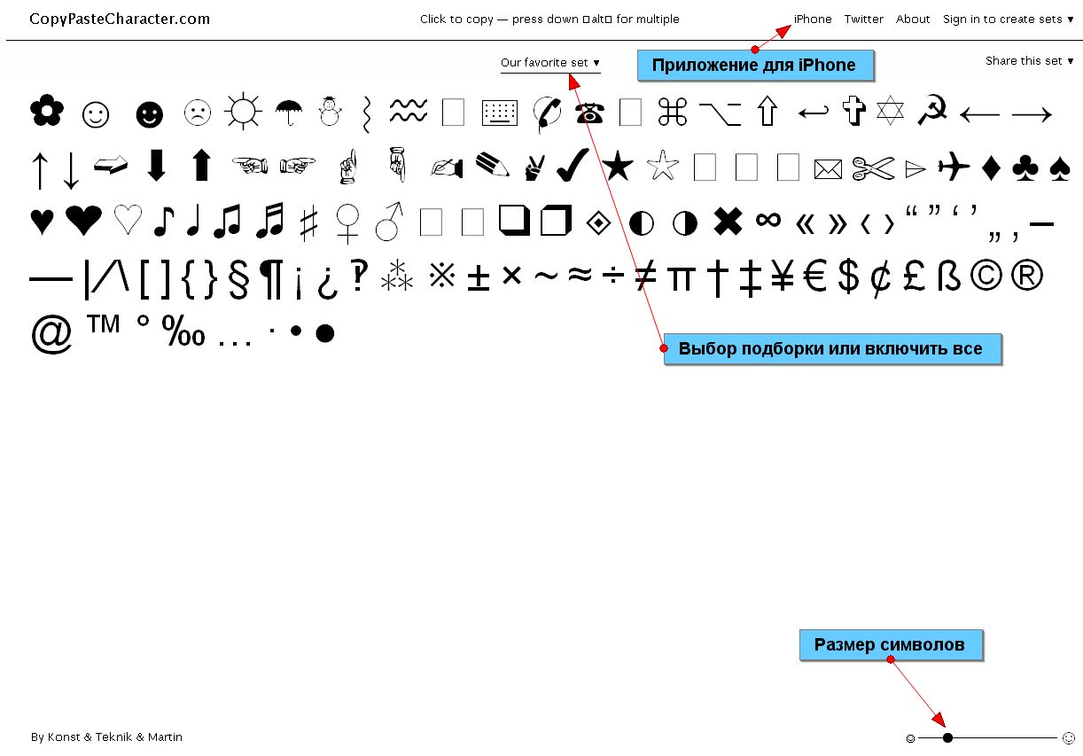 как сделать смайлики из символов: