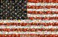 мозаика из голых тел флага USA