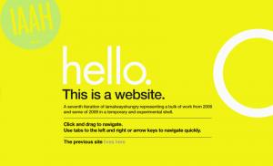 iaah, iamalwayshungry, web design