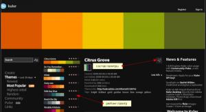 старт работы с сервисом Кулер по выбору цветовой схемы
