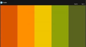 kuler, выбрать цвет для своего сайта