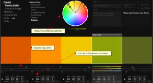 подробная цветовая схема для сайта или буклета или другой дизайн работы
