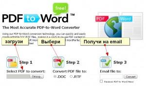 pdf to word и txt