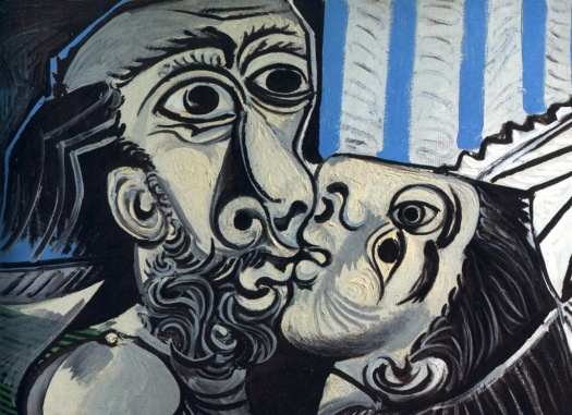 picasso, the kiss picture