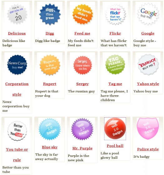 Иконки Web 2.0, badges